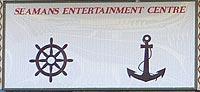 Seamen's Club Sign